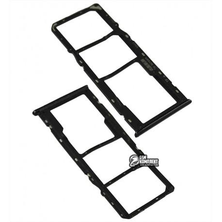 Держатель SIM-карты Realme 5, c держателем MMC, черный