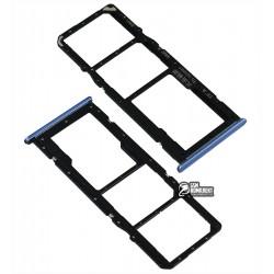 Держатель SIM-карты Realme 6, c держателем MMC, синий