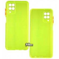 Чехол для Samsung A125 Galaxy A12, M125 Galaxy M12, Acid Color, прозрачный силикон, lime green
