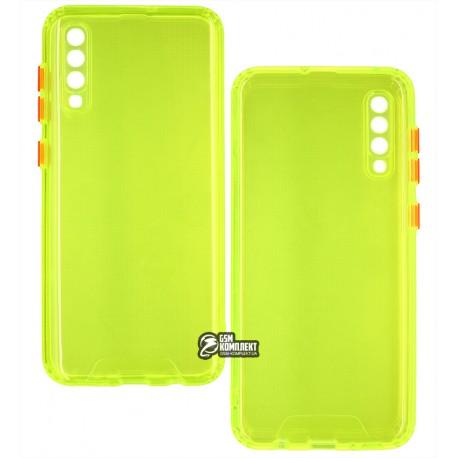 Чехол для Samsung A307/A505 Galaxy A30s/A50, Acid Color, прозрачный силикон, lime green