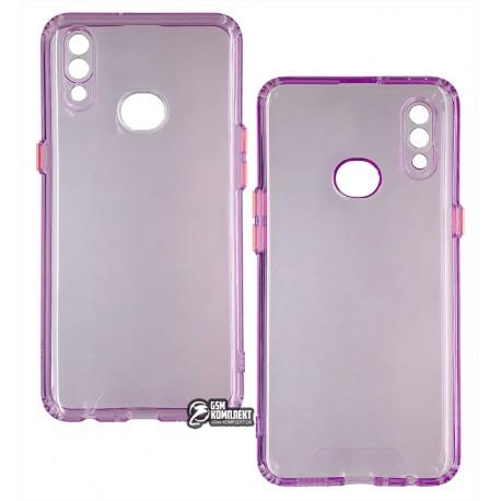 Чехол для Samsung A107 Galaxy A10s, Acid Color, прозрачный силикон, purple