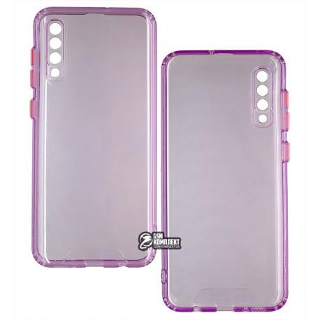 Чехол для Samsung A307/A505 Galaxy A30s/A50, Acid Color, прозрачный силикон, purple