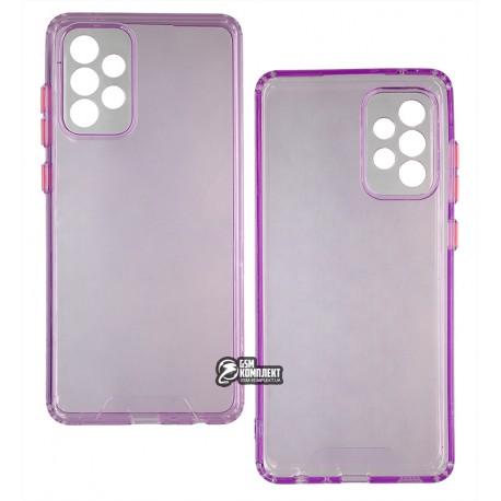 Чехол для Samsung A725 Galaxy A72, Acid Color, прозрачный силикон, purple