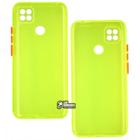 Чехол для Xiaomi Redmi 9C, Acid Color, прозрачный силикон, lime green