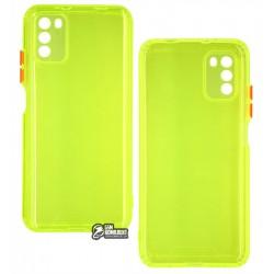 Чехол для Xiaomi Redmi 9T/Poco M3/Redmi 9 Power, Acid Color, прозрачный силикон, lime green
