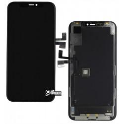 Дисплей для iPhone 11 Pro, чорний, з тачскріном, з рамкою, оригінал (переклеєне скло)
