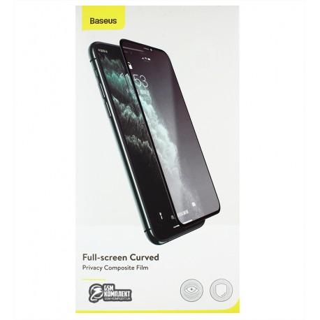 Защитное стекло Baseus 0.25mm Full-screen Curved Privac For iPhone X/ XS/11Pro \ Black