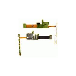 Коннектор SIM-карты для Nokia E66, коннектор карты памяти, со шлейфом, с боковыми кнопками