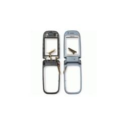 Средняя часть корпуса для Nokia 6267, полная, с шлейфом, с повортным механизмом