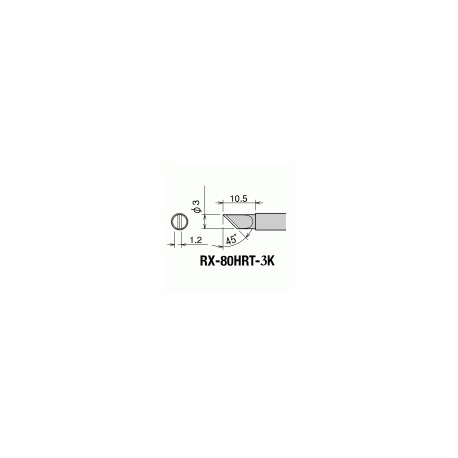 Паяльное жало GOOT RX-80HRT-3K